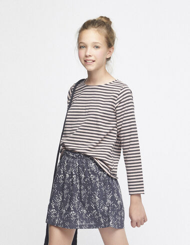 Pink/anthracite striped top - View all > - Nícoli