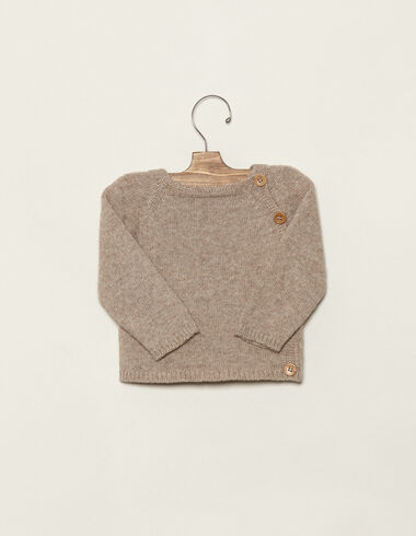 Baby´s nut jumper with buttons - Jumpers - Nícoli