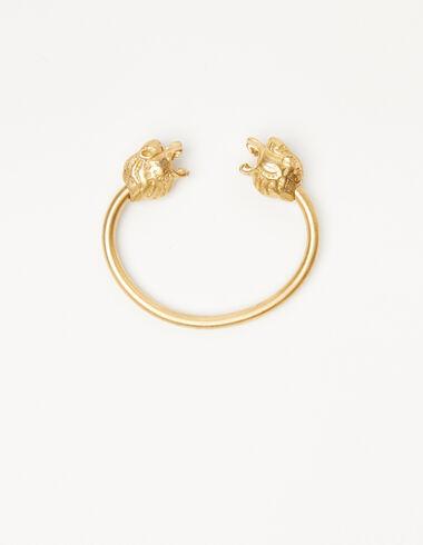 Bracelet manchette lion doré - The jewellery edition - Nícoli
