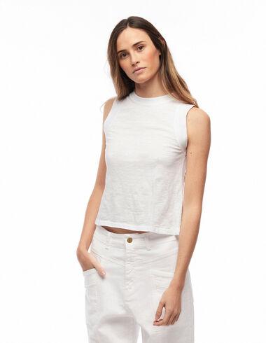 T-shirt vues blanc - Lucía Liencres - Nícoli