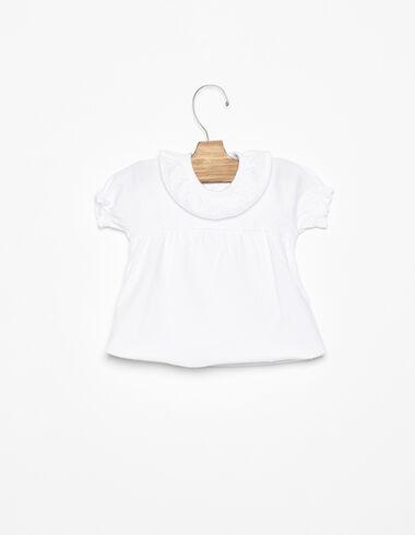 T-shirt col volant blanc - Voir tout > - Nícoli