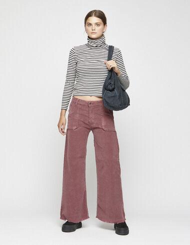 Pantalón ancho bolsillos pana fresa - Ver todo > - Nícoli