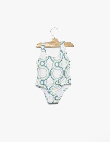 Maillot de bain print géométrique bleu - Voir tout > - Nícoli
