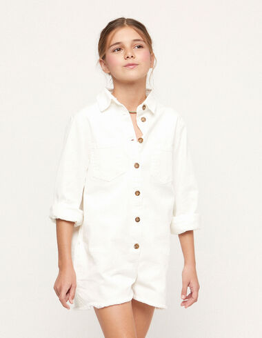 White playsuit - Teen outfits - Nícoli