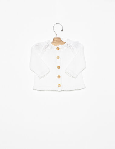 White wood button-up jacket - View all > - Nícoli