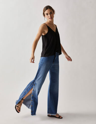 Women's  jeans with poppers - Trousers - Nícoli