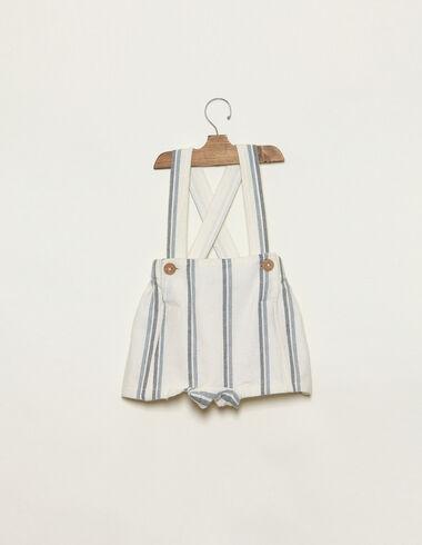 Pantalon français rayé bicolore bleu - Combinaisons et Salopettes - Nícoli