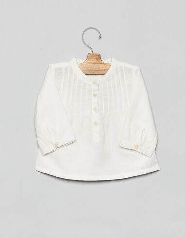 Camisa bebé manga larga blanca - Ver todo > - Nícoli
