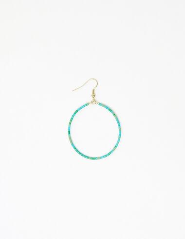 Boucle d'oreille anneau billes verte - Voir tout > - Nícoli