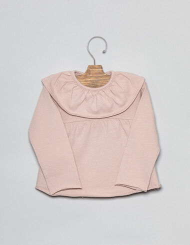 Pink ruffle baby blouse - View all > - Nícoli