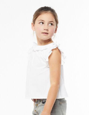 Camisa cuello volante blanca - Ver todo > - Nícoli