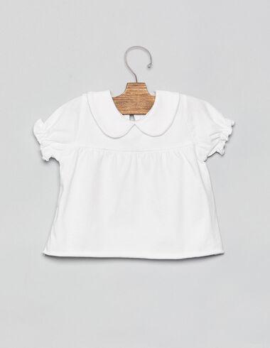 White baby neck baby T-shirt - T-Shirts - Nícoli