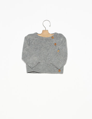 Grey buttons jumper  - View all > - Nícoli