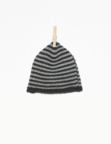 Grey and anthracite striped hat - View all > - Nícoli