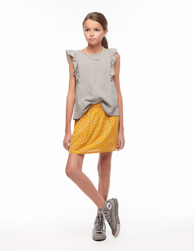 Mustard leaf print skirt - View all > - Nícoli