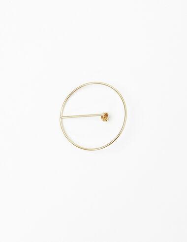 Large gold circle earrings - Earrings - Nícoli