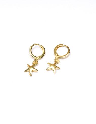 Pendientes dorados estrella fugaz - Golden Collection - Nícoli