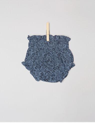 Blue flower newborn bloomers - Mustards - Nícoli