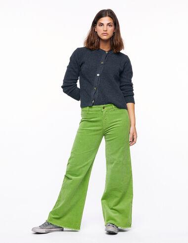 Pantalón wide leg pana verde claro - Ver todo > - Nícoli