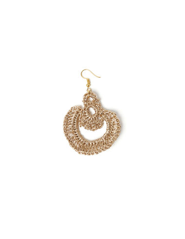 Gold thread teardrop earrings - View all > - Nícoli