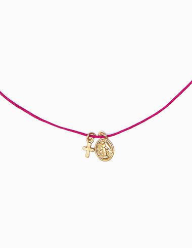 Collier ras-du-cou croix vierge rose - Voir tout > - Nícoli