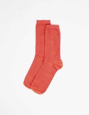 Chaussettes palmiers rouges et oranges - Accesoires - Nícoli