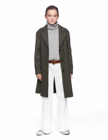 Manteau col à revers tweed vert - Voir tout > - Nícoli