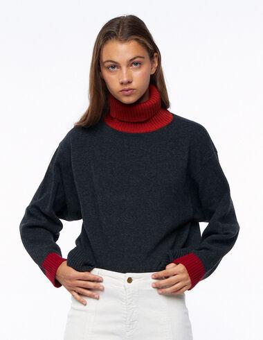 Jersey cuello vuelto contraste caldero - Ver todo > - Nícoli