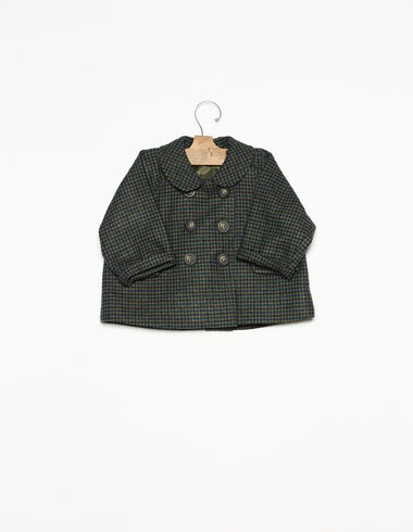 Abrigo bebé cuello redondo tweed azul - Ver todo > - Nícoli