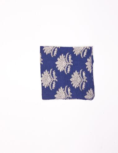 Foulard fleur indienne bleu - Voir tout > - Nícoli