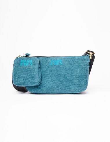 """Blue corduroy """"N"""" bag - View all > - Nícoli"""