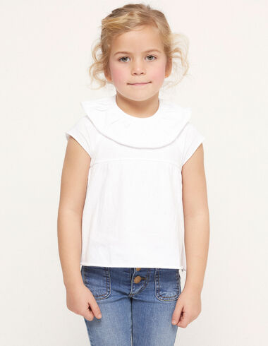 White ruffle t-shirt - View all > - Nícoli
