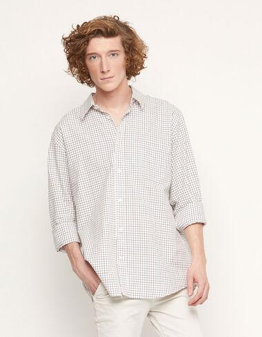 Maroon v-neck check shirt - View all > - Nícoli