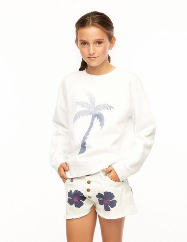Sweat-shirt palmier blanc - Ropa - Nícoli