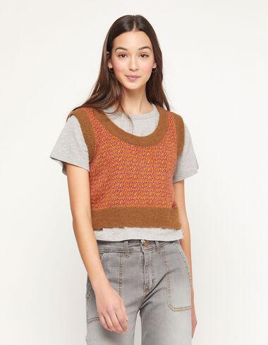 Pink contrast waistcoat - Jumpers & Sweatshirts - Nícoli