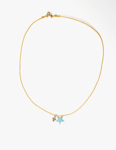 Collier étoile trèfle moutarde - Accesoires - Nícoli