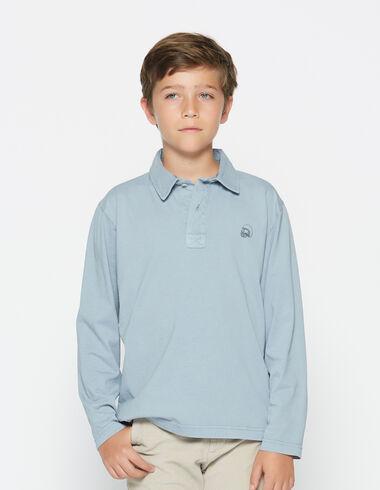 Polo lavande clair manches longues pour petits garçons - Polos - Nícoli