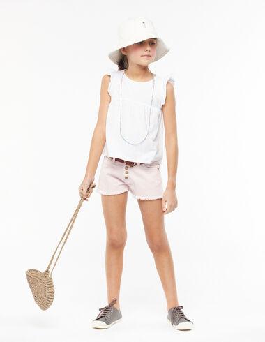 Stone-washed pink shorts - Denim guide - Nícoli