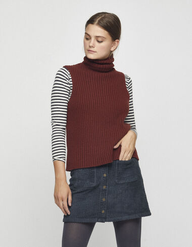 Anthracite corduroy skirt - View all > - Nícoli