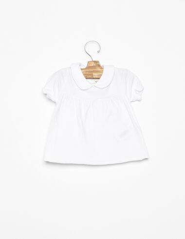 White Peter Pan collar t-shirt - View all > - Nícoli