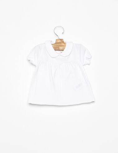 Camiseta cuello bebé blanca - Ver todo > - Nícoli