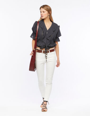 White skinny trousers - The Summer Denim - Nícoli