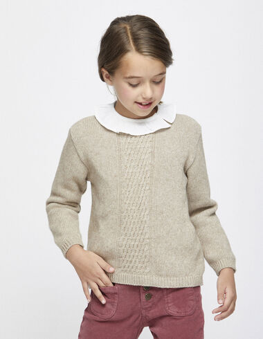 Girl´s nut cable knit jumper - Jumpers & Sweatshirts - Nícoli