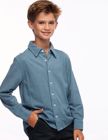 Polo chemise bleu clair - Young Mothers   PARÍS - Nícoli
