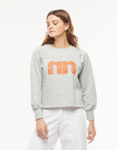 Sweat-shirt « N » gris - Pulls et Sweatshirts - Nícoli