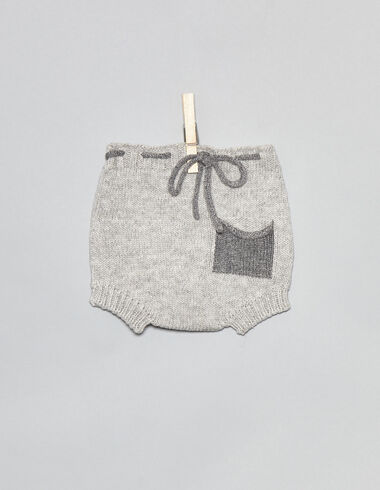 Grey baby bloomers with pockets - View all > - Nícoli