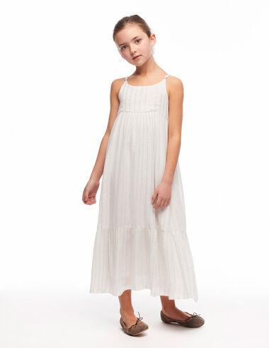 Long white lurex dress - Dresses - Nícoli