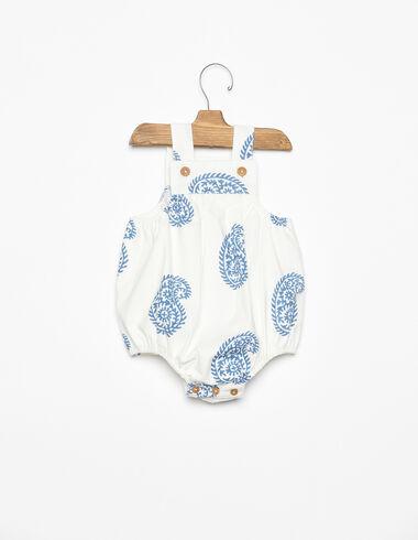 Grenouillère boutons paisley grande bleue - Voir tout > - Nícoli