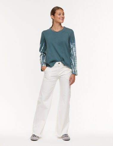White wide leg jeans with pocket - View all > - Nícoli