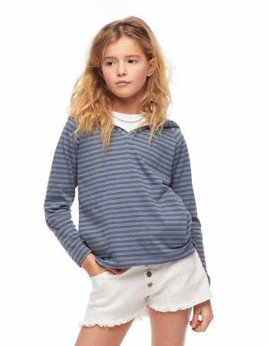 Blue stripe hoodie - Jumpers & Sweatshirts - Nícoli